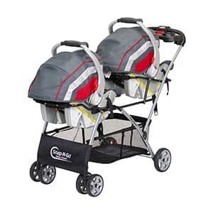 Best Car Seat Strollers for Twins - Snap N Go double with seats