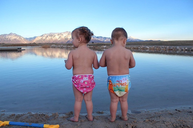 Best Swim Diapers: Alva Babies at the lake